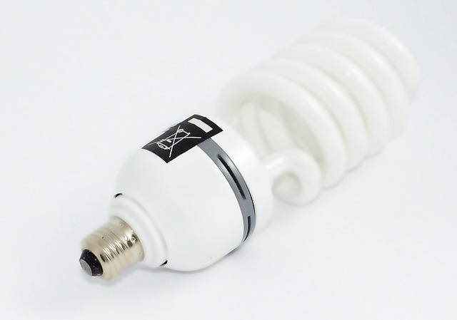 úsporná stočená žárovka
